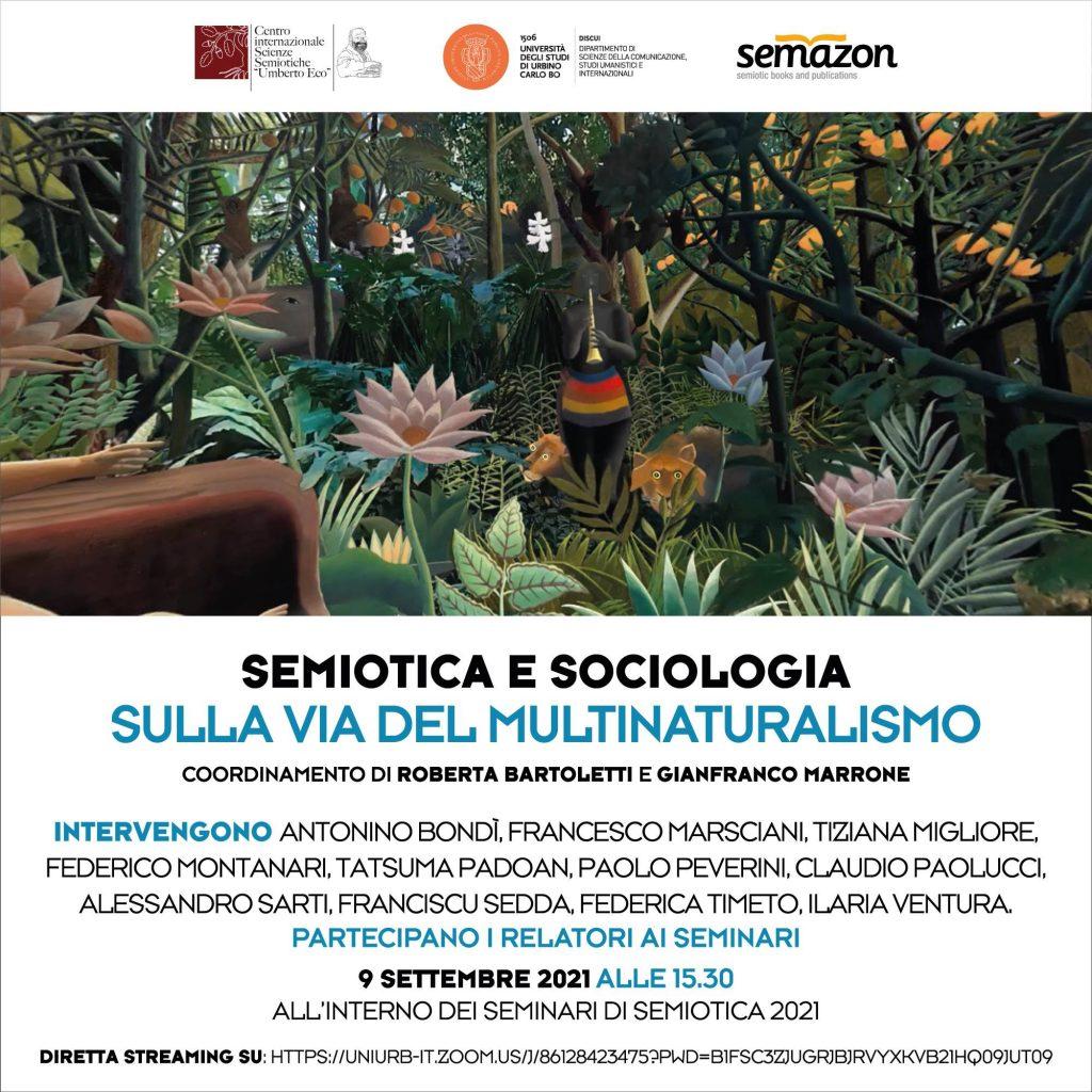 """SEMINARI DI SEMIOTICA URBINO UNIVERSITÀ DEGLI STUDI """"CARLO BO"""" 6 - 10 SETTEMBRE 2021"""